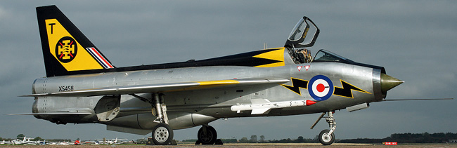 English Electric Lightning T.5 XS458